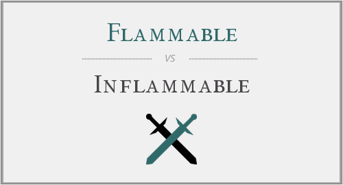 Flammable vs. Inflammable