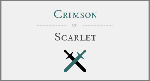 crimson vs. scarlet