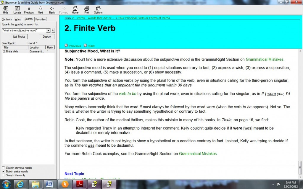 Sample Page from GrammaRight