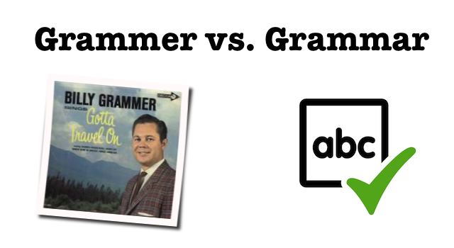 Grammer vs. Grammar